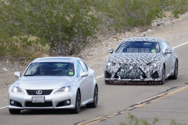 Lexus-RC-F-Coupe-prototype-with-IS-F-sedan